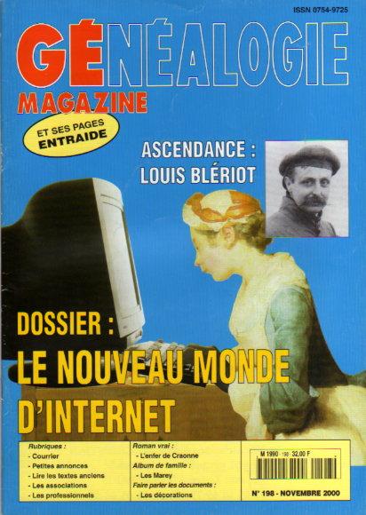 Généalogie Magazine n° 198 - novembre 2000
