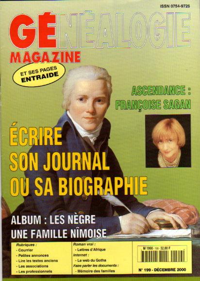 Généalogie Magazine n° 199 - décembre 2000