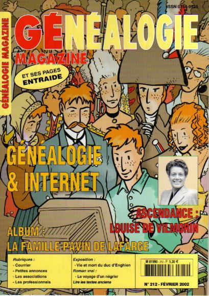 Généalogie magazine n° 212 - février 2002