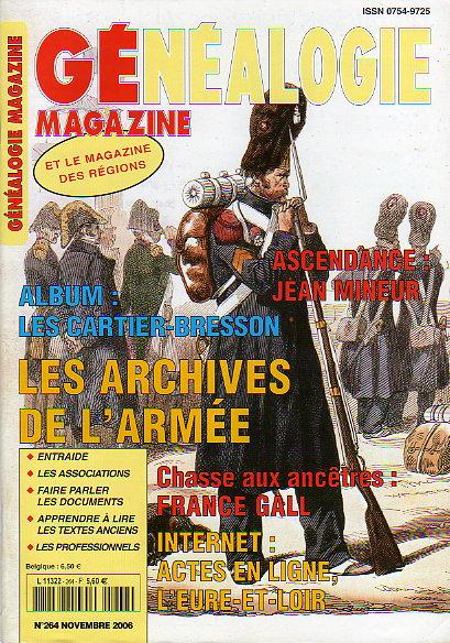 Généalogie Magazine n° 264 - novembre 2006