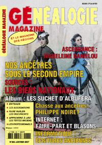Généalogie Magazine n° 266 - janvier 2007