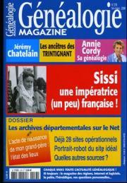 Généalogie Magazine N° 278 – Février-Mars  2008