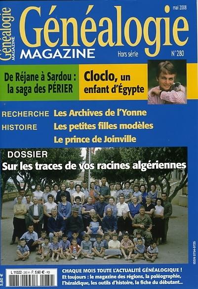 Généalogie Magazine N° 280 - Mai 2008