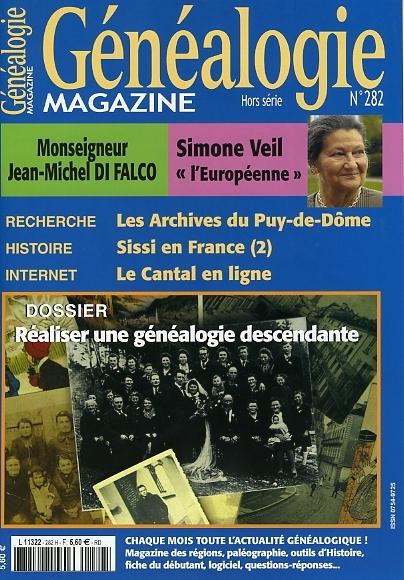 Généalogie Magazine n° 282
