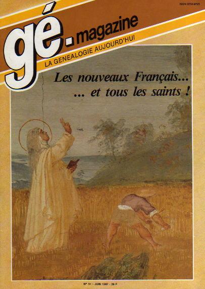Généalogie Magazine n° 051 – juin 1987