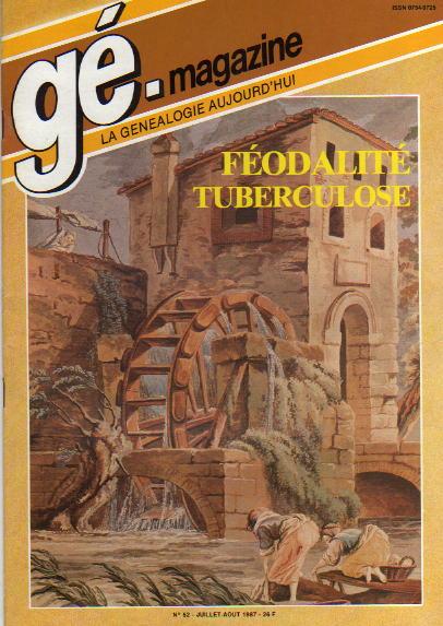 Généalogie Magazine n° 052 - juillet-août 1987
