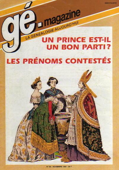 Généalogie Magazine n° 055 – novembre 1987