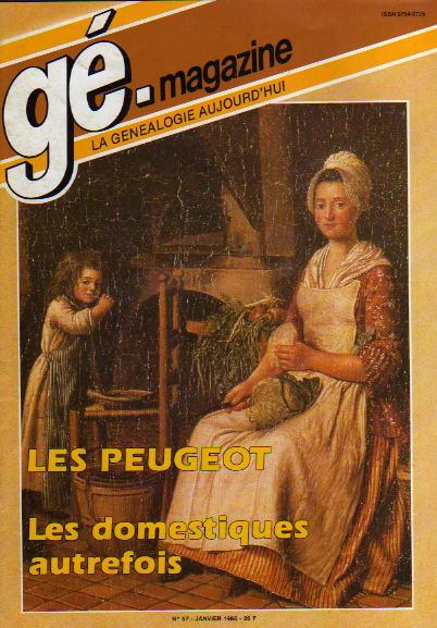 Généalogie Magazine n° 057 – janvier 1988