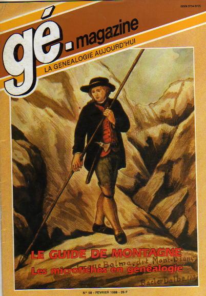 Généalogie Magazine n° 058 – février 1988