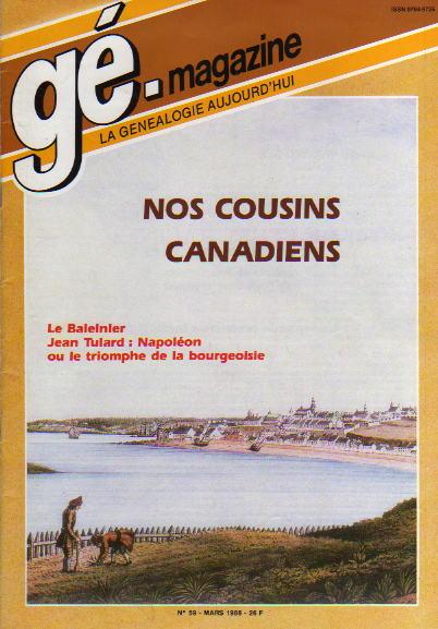 Généalogie Magazine n° 059 – mars 1988