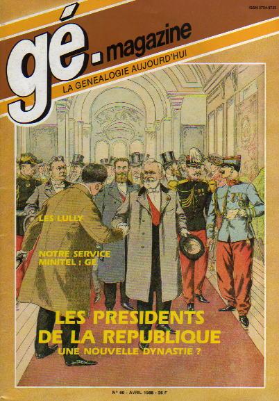 Généalogie Magazine n° 060 – avril 1988