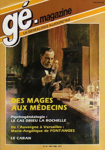 Généalogie Magazine n° 061 - mai 1988
