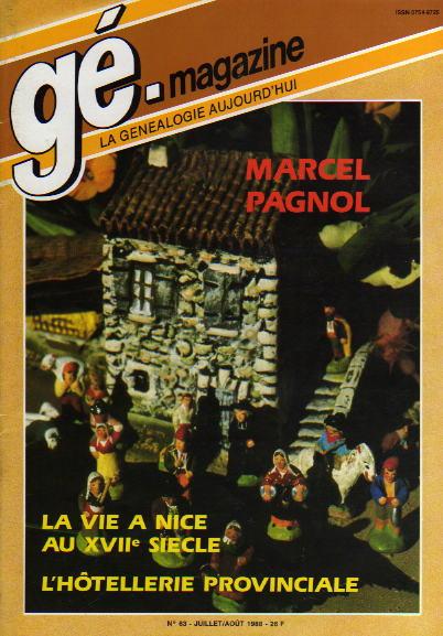 Généalogie Magazine n° 063 – juillet - août 1988