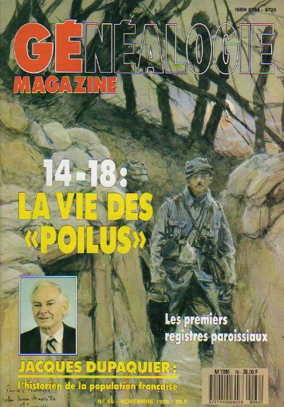 Généalogie Magazine n° 066 – novembre 1988