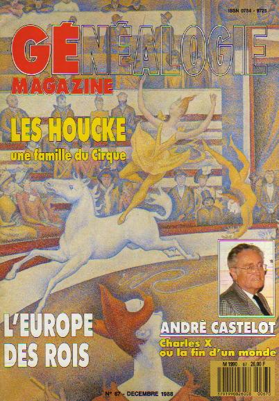 Généalogie Magazine n° 067 – décembre 1988