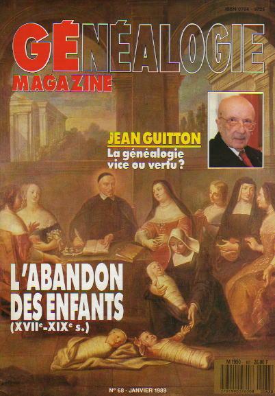 Généalogie Magazine n° 068 – janvier 1989