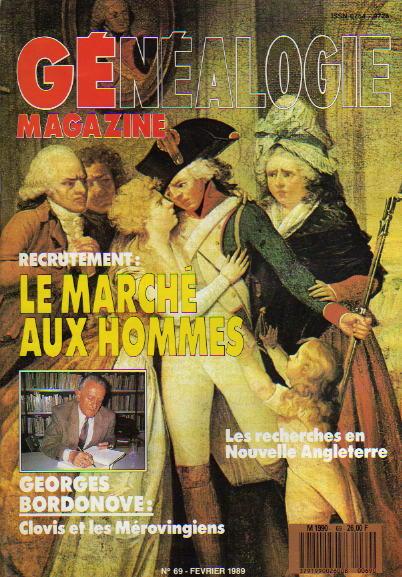 Généalogie Magazine n° 069 – février 1989