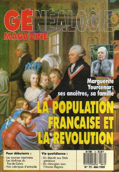 Généalogie Magazine n° 072 – mai 1989