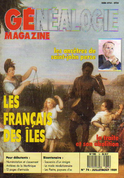 Généalogie Magazine n° 074 – juillet août 1989