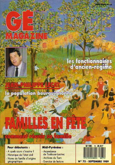 Généalogie Magazine n° 075 – septembre 1989