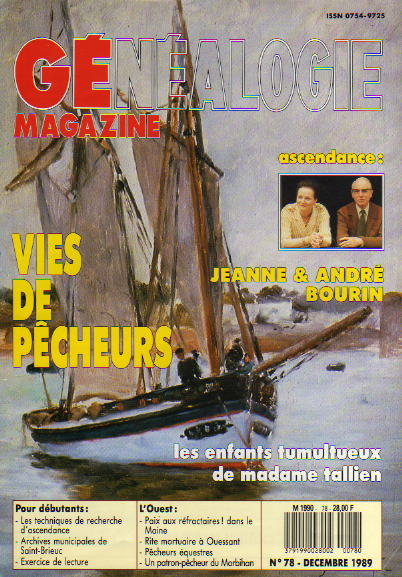 Généalogie Magazine n° 078 – décembre 1989