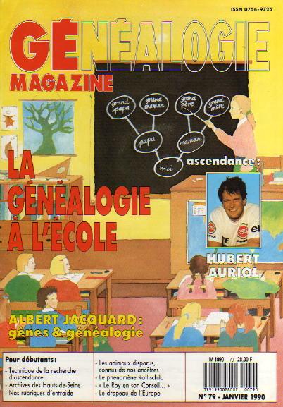 Généalogie Magazine n° 079 - janvier 1990