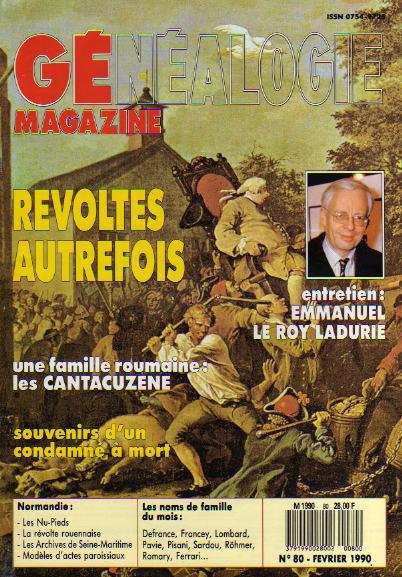 Généalogie Magazine n° 080 - février 1990