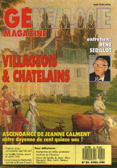 Généalogie Magazine n° 082 - avril 1990