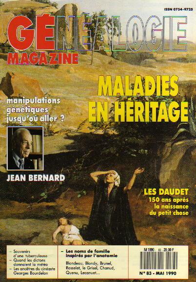 Généalogie Magazine n° 083 – mai 1990
