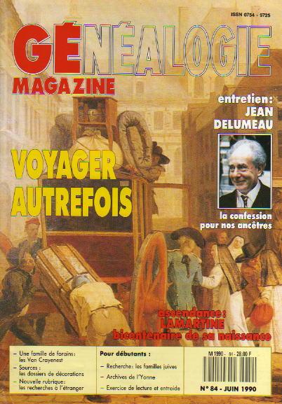 Généalogie Magazine n° 084 – juin 1990