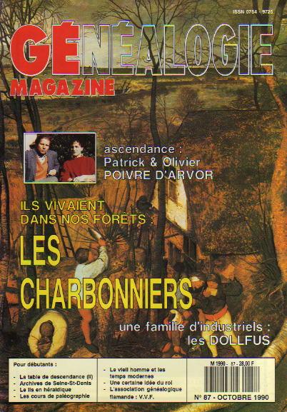 Généalogie Magazine n° 087 - octobre 1990