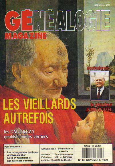Généalogie Magazine n° 088 – novembre 1990