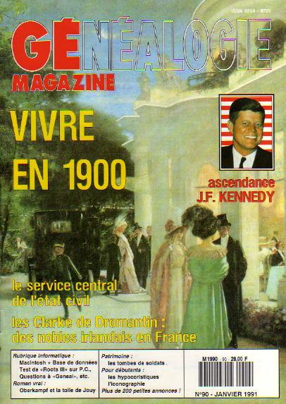Généalogie Magazine n° 090 – janvier 1991