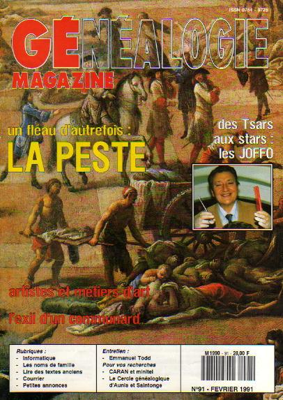 Généalogie Magazine n° 091 – février 1991