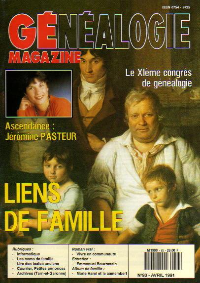 Généalogie Magazine n° 093 - avril 1991