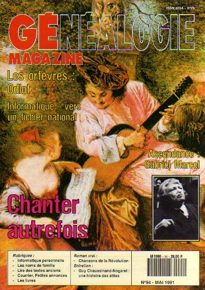 Généalogie Magazine n° 094 - mai 1991