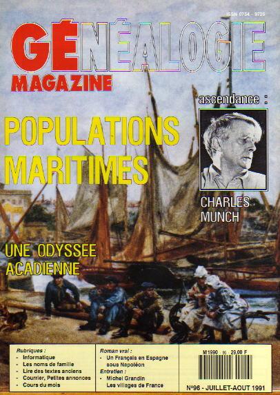 Généalogie Magazine n° 096 – juillet-août 1991