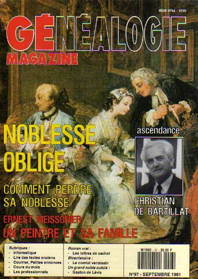 Généalogie Magazine n° 097 - septembre 1991