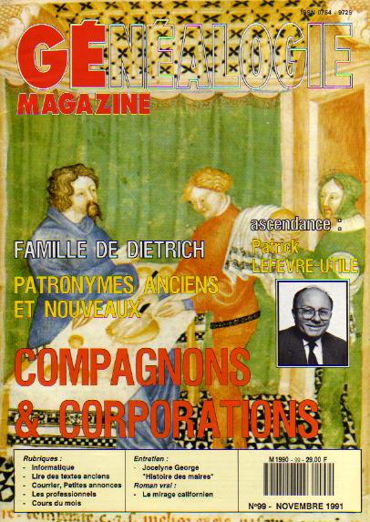 Généalogie Magazine n° 099 - novembre 1991