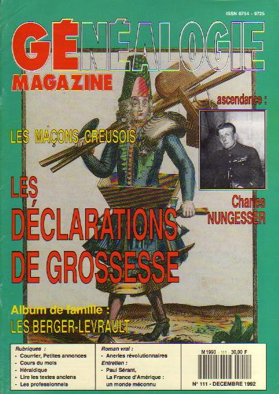 Généalogie Magazine n° 111 – décembre 1992