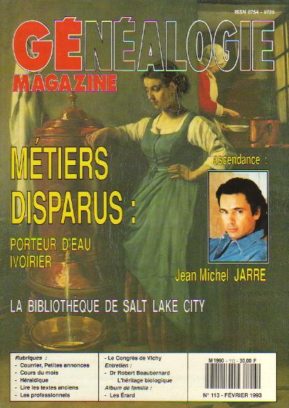 Généalogie Magazine n° 112 - janvier 1993