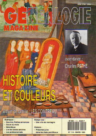 Généalogie Magazine n° 114 - mars 1993