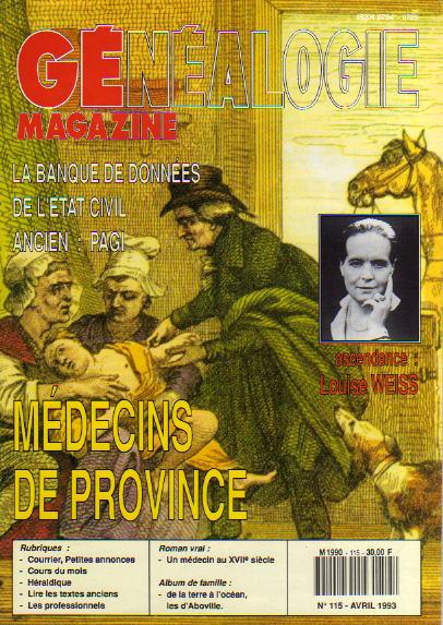 Généalogie Magazine n° 115 – avril 1993