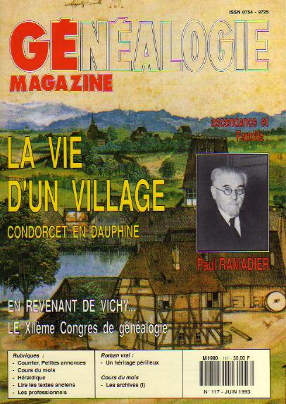 Généalogie Magazine n° 117 - juin 1993