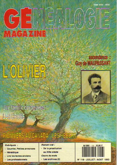 Généalogie Magazine n° 118 - juillet - août 1993