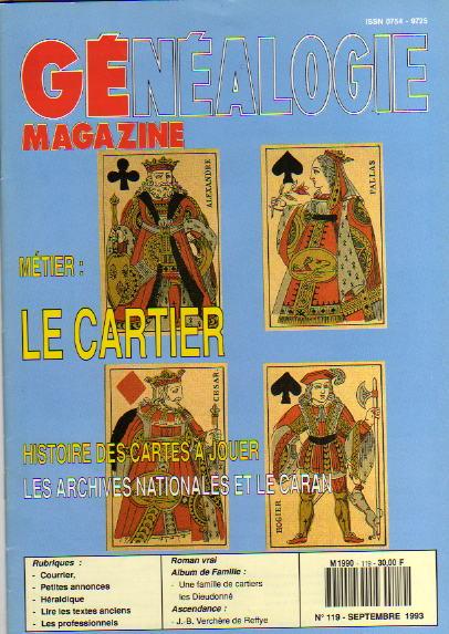 Généalogie Magazine n° 119 – septembre 1993