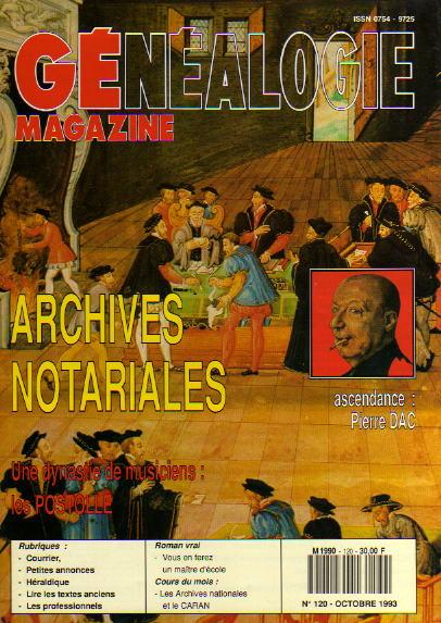 Généalogie Magazine n° 120 – octobre 1993