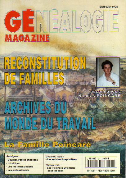 Généalogie Magazine n° 124 - février 1994