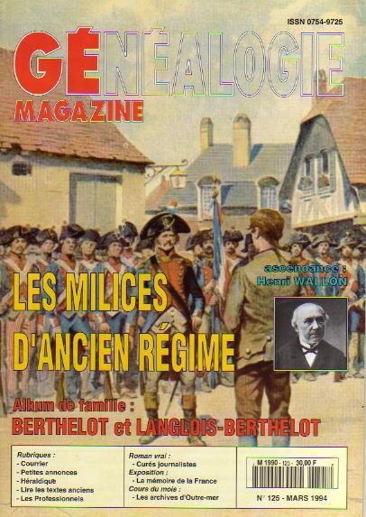 Généalogie Magazine n° 125 – mars 1994
