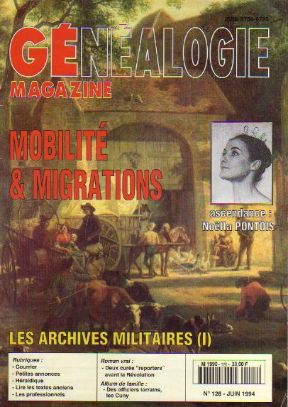 Généalogie Magazine n° 128 - juin 1994
